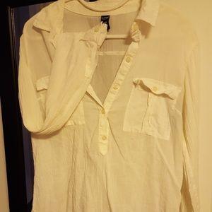 Women's small white long sleeve shirt
